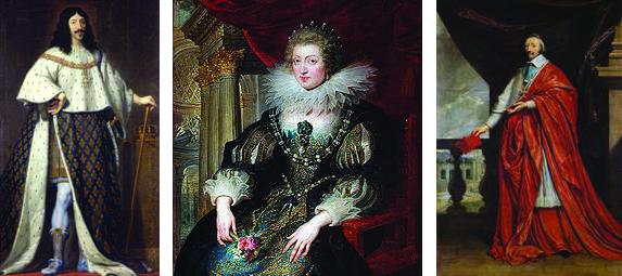 Louis XIII, Marie-Antoinette et Richelieu